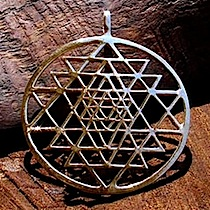 Sri Yantra jewelry pendant gold