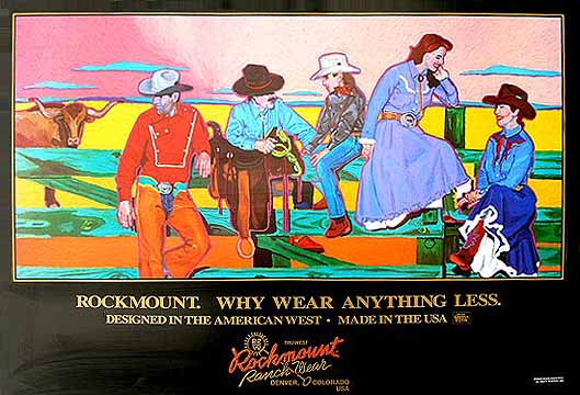 Rockmount Poster - Why Wear Anything Less - These classic posters show the famous era that Rockmount Ranchwear has represented since 1947