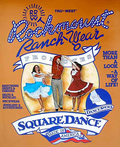 Rockmount Poster - Square Dance - More than a look--a way of life! - These classic posters show the famous era that Rockmount Ranchwear has represented since 1947